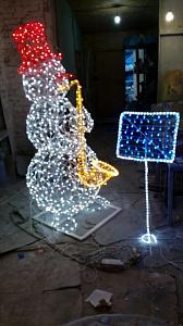 снеговик музыкант